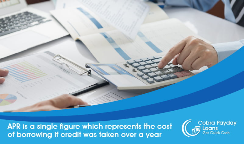 APR is a single figure which represents the cost of borrowing if credit