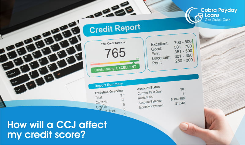 How will a CCJ affect my credit score