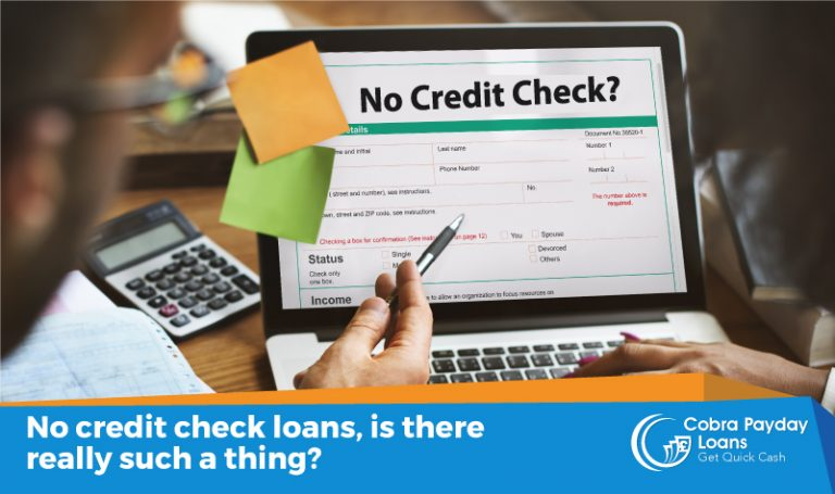 No credit check loans, is there such a thing