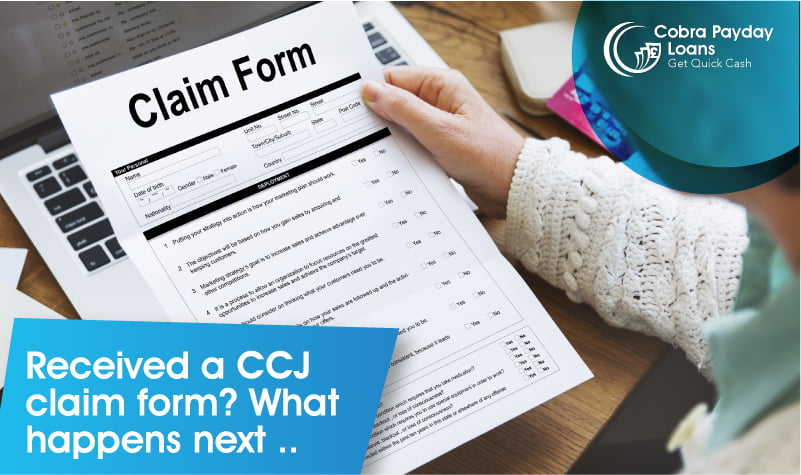 Received a CCJ claim form