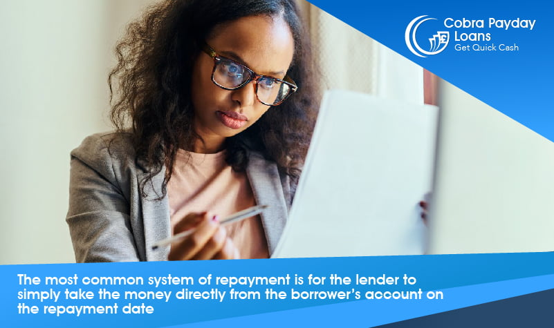 The most common system of repayment is for the lender