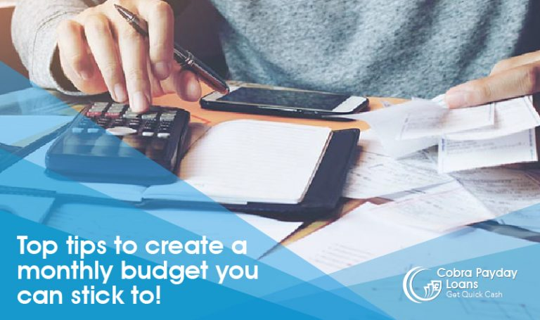 Top Tips To Create A Monthly Budget