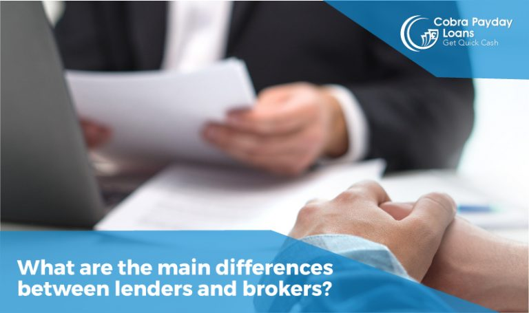 What are the main differences between lenders and brokers