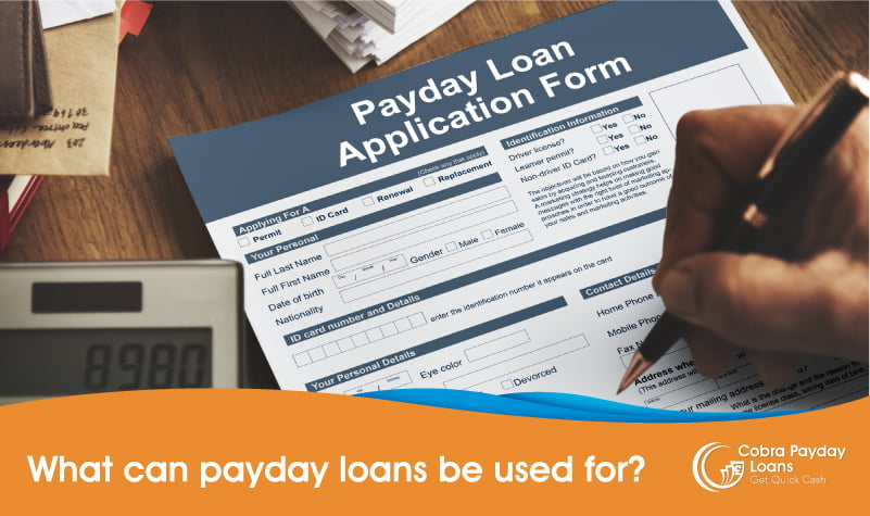 What can payday loans be used for