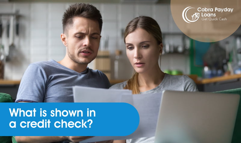 What is shown in a credit check