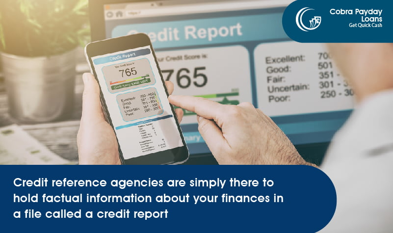 Credit reference agencies are simply there to hold factual information about your finances