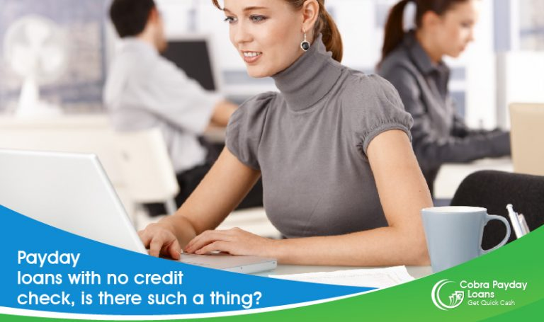 is there such a thing a no credit check payday loans