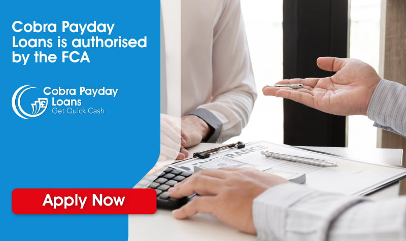 Cobra payday loans is authorised by the FCA